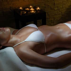 Erotic massage with candles